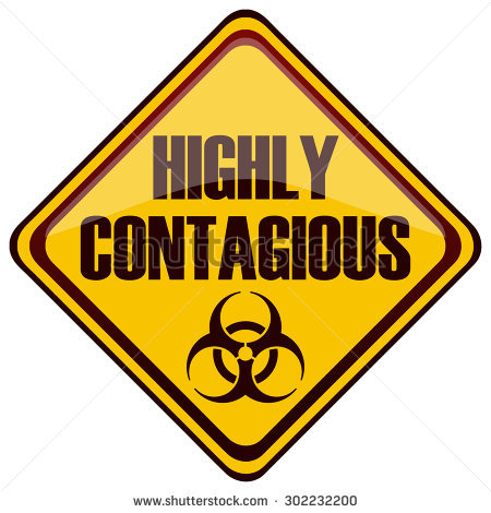 stock-vector-highly-contagious-diamond-shaped-yellow-warning-sign-vector-illustration-302232200